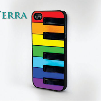 Colorful Piano Keys  - iphone 5 cases - iphone 4s case - iphone 4 case
