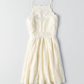 AEO SCALLOP LACE DRESS