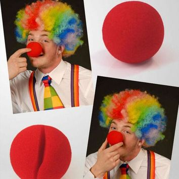 VONC1Y 1 PCS Party Sponge Ball Red Clown Magic Nose for Halloween Christmas Party Masquerade