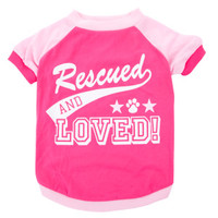 "Luv-A-Pet™ ""Rescued and Loved"" Tee"