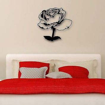 Wall Sticker Vinyl Decal Rose Flowers Plant Great Decor Bedrooms Unique Gift (ig1172)