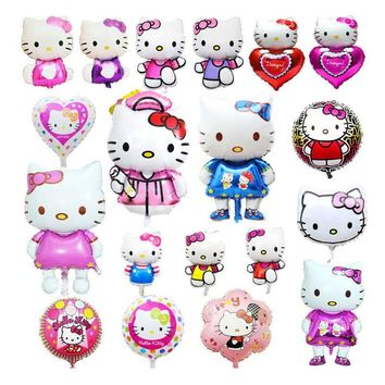 Hello kitty foil helium balloons baby shower girl Pink classic toys Happy Birthday party decoration supplies Big KT pet baloon