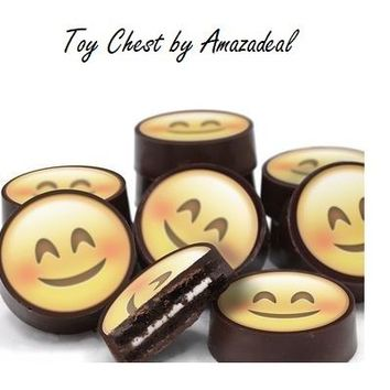 Emoji Happy Face Chocolate Covered Oreo Cookies