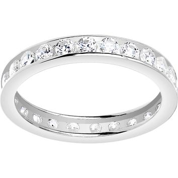 Solid 14kt White Gold Cubic Zirconia Eternity Toe Ring - Size 3
