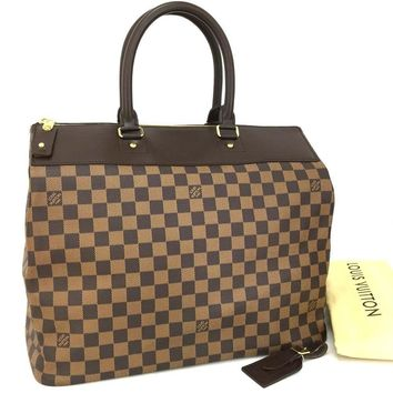 100% Authentic Louis Vuitton Damier Greenwich PM Boston Travel Hand Bag/mAIC x