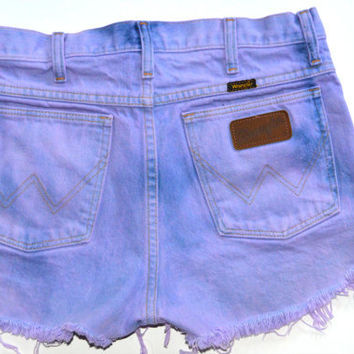 Cotton Candy Lilach High Waisted Denim Shorts by NewSpiritVintage