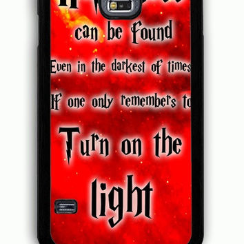 Samsung Galaxy S5 Case - Hard (PC) Cover with Harry Potter Quotes Happiness Can be Found Even in The Darkest of Times If One Remembers Plastic Case Design