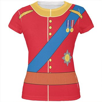 Halloween Prince Charming William Costume All Over Juniors T Shirt