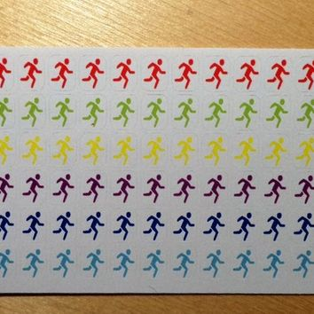 JOGGER - planner sticker - sport icon - rainbow colors