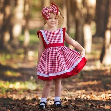2018 Fall Haute Baby A Is For Apple Pinafore Girls Dress Pre- Order