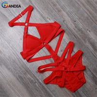 sexy women swimsuit bathing suit sexy monokini swimwear solid one pieces swimsuit high cut bathing suit beachwear