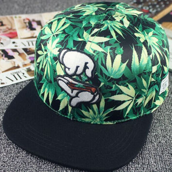 Weed Joint Rolling Snapback Caps