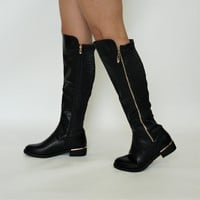 Quilted Knee High Boot