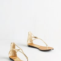 Dolce Vita Luxe Luxe On the Bright Side Sandal in Gold