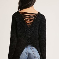 Caged Chenille Sweater
