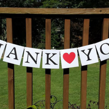 Thank You Banner, Wedding Thank You  Banner, Thank You Sign, Thank You Photo Prop, Wedding Decor