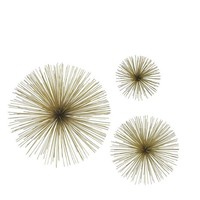 Home Decorators Collection Assorted Metal Gold Star Bursts Wall Art (Set of 3)-8187100530 - The Home Depot