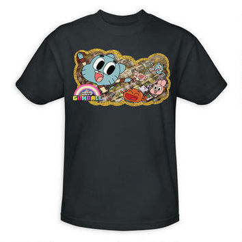 The Amazing World of Gumball: Flight Charcoal Adult T-Shirt |