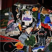 REYN SPOONER VTG Hawaiian Shirt SF GIANTS Size L!  100% COTTON !MADE IN USA