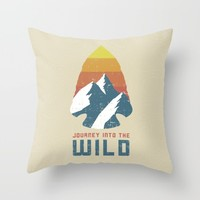 Journey Into the Wild Throw Pillow by Anthony Troester