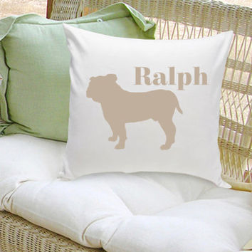 Personalized Pet Pillow - Personalized Dog Silhouette Decorative Pillow - Personalized Dog Pillow (GC1228)