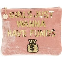 Bow & Drape Girls Just Wanna Have Funds Pouch | Nordstrom