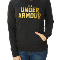 Under Armour Women's Charged Cotton Big Logo Pullover Sweater
