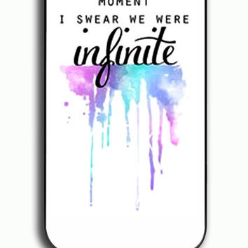 iPhone 4S Case - Rubber (TPU) Cover with And In That Moment I Swear We Were Infinite The Perks of Being a Wallflower Rubber Case Design