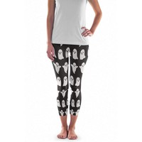 Halloween Costume Ghost Leggings