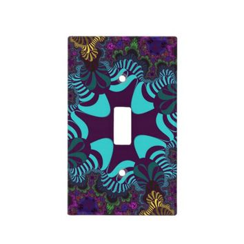 Teal Plum Rainbow Cross Light Switch Cover
