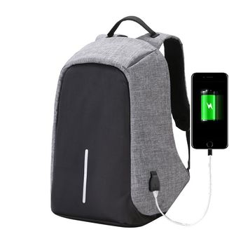 USB Charger Backpack Laptop Business Waterproof