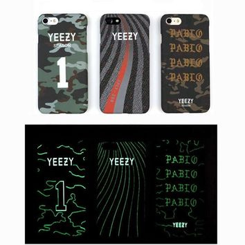 New arrived Luxury Luminous Rap YEEZY Phone hard Case For iPhone 6 6s 7 7 Plus YEEZY Season Sply Pabl Matte Protector Cover