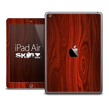 The Rich Red Wood Skin for the iPad Air
