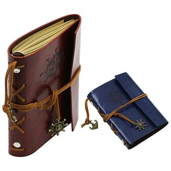 Pirate-Inspired Faux Leather Bound Journal (6 Color Options)