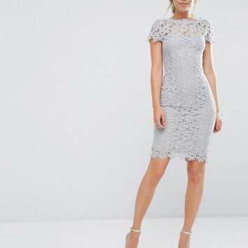Paper Dolls Allover Lace Dress With Cap Sleeve at asos.com