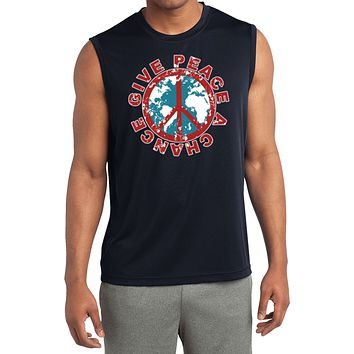 Peace T-shirt Give Peace a Chance Sleeveless Competitor Tee