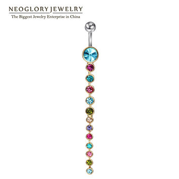 Neoglory Rhinestone Piercing Belly Button Rings For Women Body Piercing Navel Fashion Jewelry 2016 Brand