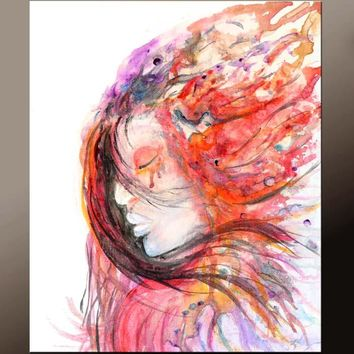 11x14 Abstract Art Print Contemporary Modern Giclee by Destiny Womack - dWo - Spirit Dancer
