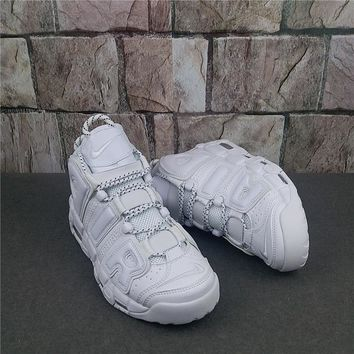 Nike Air More Uptempo All White Sneaker