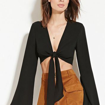 Contemporary Self-Tie Crop Top