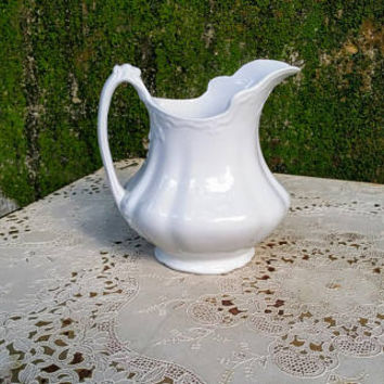 W.H. Grindley & Co. Ironstone Milk Pitcher Marquis Pattern