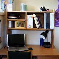 Eco-Shelf  - Dorm Room Desk Bookshelf