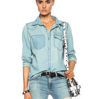 Lesli Cotton Button Down Top in Faun