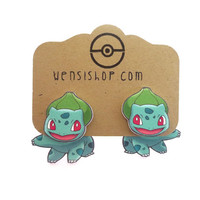 Bulbasar (Pokemon Inspired) Cling Earrings
