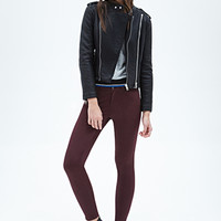 FOREVER 21 Zippered-Ankle Skinny Jeans