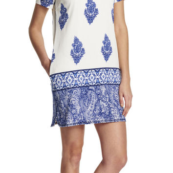 Printed Tunic Dress - Adrianna Papell