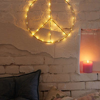 Peace Sign Light Sculpture | Urban Outfitters