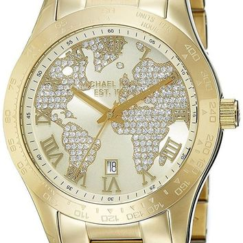 ONETOW Michael Kors Watches Layton Chronograph Watch (Gold)