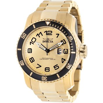 Invicta Men's 15350 Pro Diver Quartz 3 Hand Gold Dial Watch