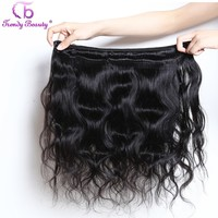 Trendy Beauty Peruvian Body Wave Non-remy Human Hair bundle Natural Black Color 8-26 inches Hair Weaving Extensions